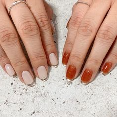 """""""フレンチネイル=ホワイト""""?最新デザインde個性派ネイルにチェンジセヨっ in 2020 Cute Acrylic Nails, Cute Nails, Pretty Nails, My Nails, Nail Manicure, Nail Polish, Nailart, Finger, Jelly Nails"""