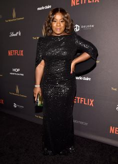 Uzo Aduba at the 2016 Golden Globes after party