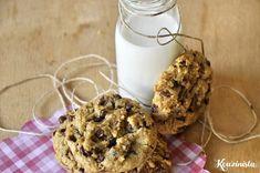 Cookies με ταχίνι, βρώμη και σοκολάτα Tahini, Chocolate Oatmeal, Food Crafts, Cookies, My Recipes, Glass Of Milk, Healthy Snacks, Biscuits, Pancakes