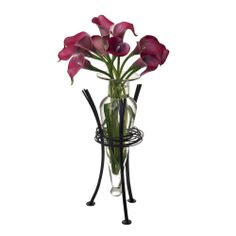 Clear Amphora Vase on Wire Stand | Overstock.com Shopping - Great Deals on Vases