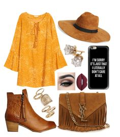 """""""Sunshine with a Southern Twist"""" by jillibean0025 on Polyvore featuring Billabong, Amici Accessories, Casetify, Topshop, Lime Crime and Yves Saint Laurent"""