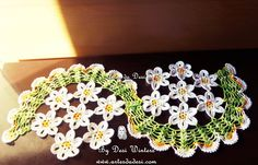 Crochê - Crochet doilies for beginners Filet Crochet, Crochet Ripple, Crochet Motifs, Crochet Borders, Crochet Flower Patterns, Irish Crochet, Crochet Designs, Crochet Flowers, Crochet Home