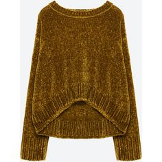 FULL CHENILLE SWEATER - View all-KNITWEAR-WOMAN | ZARA United States (£38) ❤ liked on Polyvore featuring tops, sweaters, brown tops, chenille sweater and brown sweater