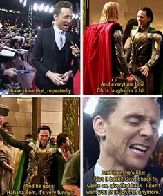 Tom Hiddleston: Did you ever take the hammer?