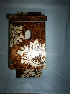 Beautiful Handmade Pine  Bluebird/Swallow  by KWKraftsWoodburning