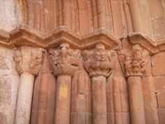 Capiteles de la Iglesia de Santo Domingo de Silos en Millana (Guadalajara).