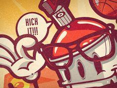 poster design wip charakter  by Daniel Bkopf