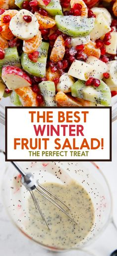 The Best Winter Fruit Salad - Lexi's Clean Kitchen Think fruit salads are just for the summer? This Winter Fruit Salad is perfect to serve when the weather is frightful! Winter Fruit Salad, Best Fruit Salad, Summer Salads With Fruit, Fruit Salad Recipes, Fruit Salad Ingredients, Healthy Fruits, Healthy Snacks, Healthy Recipes, Healthy Baking