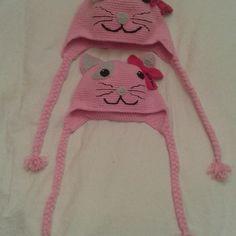 Gorros gatita a ganchillo #ganchillo #crochet #gorro