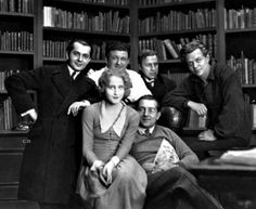 "The cast of ""Metropolis"" and Fritz Lang."