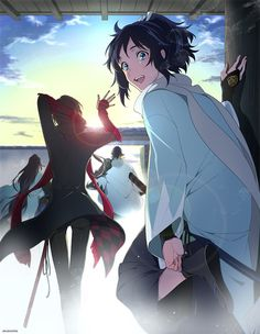 Kashuu and Yamatonokami Me Me Me Anime, Anime Love, Anime Guys, Touken Ranbu, Anime Manga, Anime Art, Natsume Yuujinchou, Cartoon Games, Bishounen