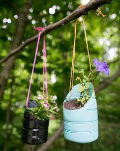 Plastic Bottle Hanging Planters | FaveCrafts.com