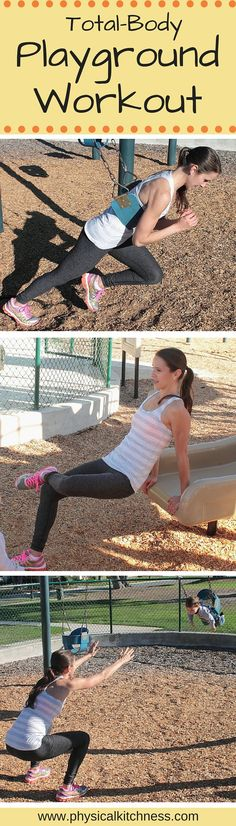 Try this playground workout next time you bring the kids to the park. A winning workout for busy mommies!