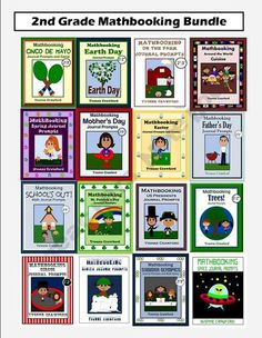 Math Journal Prompts for 2nd grade Bundle is a set of 16 Mathbooking booklets.