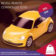 RC Toys at Flat 35% OFF - Experience the #DubaiFestivalAtBeyonder - Shop at http://beyonder.co/toys/revell-remote-control-vokswagen-beetle    #DubaiShoppingFestival #BeyonderOffers
