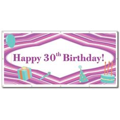 Happy Birthday Purple Teal Party Supplies 3 x 6 Vinyl Banner ** More info could be found at the image url. (This is an affiliate link) Happy 80th Birthday, Happy Birthday Banners, Happy 30th, Purple Line, Purple Teal, Teal Party, Vinyl Banners, Party Supplies, White Vinyl