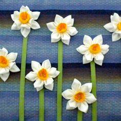 Fabric Flower Tutorial Pattern - Double Daffodil Brooch © by La Todera