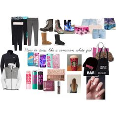 Common white girl by commonwhitegirldoescheer on Polyvore featuring The North Face, Paul & Joe, J Brand, Juicy Couture, Victoria's Secret PINK, Victoria's Secret, Zara, ONLY, UGG Australia and Charlotte Russe