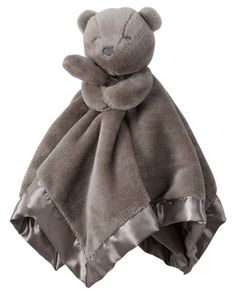 Carters Grey Bear Snuggle Buddy Security Blanket: Soft snuggle buddy security blanket with satin trim and back. Baby Boy Toys, Carters Baby Boys, Fun Baby Announcement, Baby Boy Accessories, Baby Necessities, Baby Boy Blankets, Baby Gift Sets, Security Blanket, Funny Babies