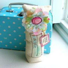 Fabric Flowers Flower Sculpture Flower Pillow by tracyBdesigns, $12.00