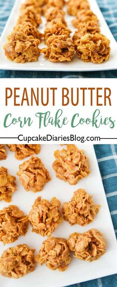 You can't get much easier than chewy and delectable No Bake Peanut Butter Corn Flake Cookies! It really is a delight biting into one of these cookies.