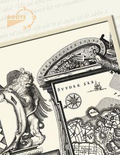 Ansicht Historisch Amsterdam 1625-02 van Route123 op Etsy #Picture Postcard