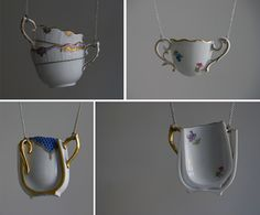 Hungarian designer Eszter Imre has developed 'Table-wear', a collection of ceramic dishes transformed into jewellery.