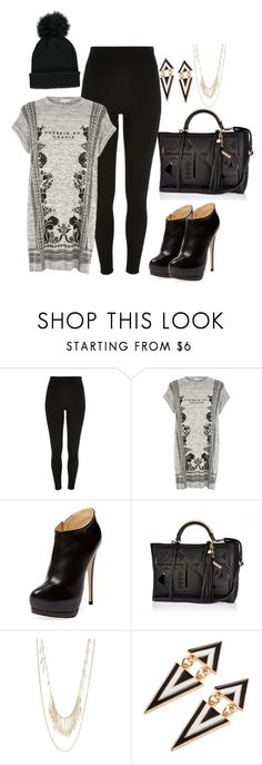"""""""River Island Trend"""" by thenista ❤ liked on Polyvore featuring River Island, Giuseppe Zanotti, Panacea and Forever 21"""