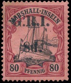 Marshall Islands 1914. G.R.I. 80 Pfennig surcharged 8d.