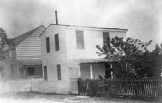 This late 19th-century photo shows the Freedmens Bureau office established to aid the large concentration of former slaves who had flocked to Fort Monroe and Hampton.