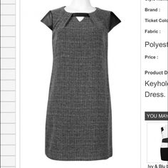 Ivy & Blu Faux by Maggy Boutique Ivy and Blu Keyhole Neckline Faux Leather Detail Pleated Back Tweed Shift Dress. Tweed (70% polyester 30% Ryon) Lining (100% polyester) Ivy and Blu Dresses Mini
