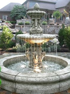 We offer the web's best selection of fountains, garden fountains, outdoor garden fountains, wall fountains and statuaries. Browse our wide selection of fountains of all shapes and sizes. Large Outdoor Fountains, Garden Water Fountains, Stone Fountains, Concrete Fountains, Fountain Garden, Garden Ponds, Backyard Ponds, Water Garden, Tabletop Fountain