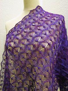 Hairpin Lace Crochet, Crochet Shawl, Free Crochet, Knit Crochet, Shawl Patterns, Lace Patterns, Knitting Patterns, Crochet Patterns, Broomstick Lace