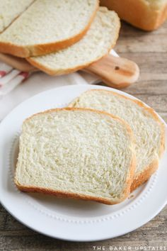 The best white sandwich bread - so light and tender, but sturdy enough to stand up to any sandwich filling. Delicious and easy to make too! Bread Maker Recipes, Sandwich Bread Recipes, Sandwich Fillings, Bread Bun, Bread Rolls, Light Sandwiches, Homemade Dinner Rolls, Bread Ingredients, Artisan Bread