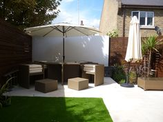 Nice patio area to enjoy those sunny summer days. Garden completed by our member Groundteam Limited, see more of their great work here - https://www.experttrades.com/trade/groundteam-limited/gallery  #garden #patio #gardenfurniture #home #inspiration #gardenideas #gardeninspiration