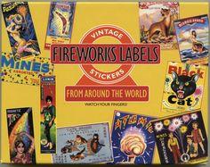 VINTAGE FIREWORKS LABELS by OneDayLongAgo on Etsy, $8.95