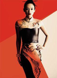Movie Star Ziyi Zhang in Oriental Qipao Dress http://www.interactchina.com/servlet/the-Ladies-Fashion-cln-Qipao/Categories