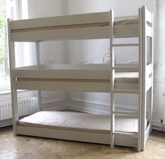 Triple bunk bed / child's unisex DOMINIQUE 191 90 I BB MATHY BY BOLS
