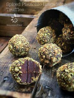Spiced Pistachio Brigadeiro Truffles (raw, vegan, gluten-free)