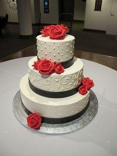Whipt Cream Wedding Cake 3 Tier Buttercream by WhiptCream, via Flickr