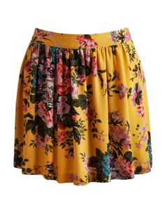 Yellow floral Joules outlet Womens Skirt | Joules UK