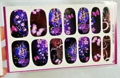Free Shipping - Butterfly Nail wrap,Water Decal,Purple Butterfly Nail,Nail Art,Nail sticker,Glitter Nails,Nail Decoration,Nail Decoration