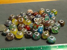 50 pieces lot mixed murano lampwork glass beads fit European bracelets 1 #Unbranded #Lampwork