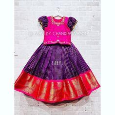 Girls Designer Dresses, Dresses Kids Girl, Baby Girl Dresses, Kid Outfits, Princess Outfits, Kids Dress Wear, Kids Wear, Saree Blouse Models, Kids Ethnic Wear