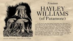 Tegan and Sara present The Con X: Covers – Nineteen – Hayley Williams of...