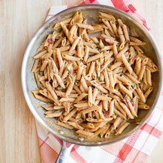 Recipe: Whole-Wheat Penne with Creamy Sun-Dried Tomato Sauce