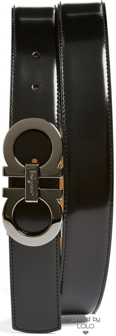 Salvatore Ferragamo Reversible Leather Belt | LOLO❤