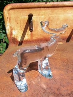 Kosta Boda glass moose designed by Bertil Vallien by fcollectables, €45.00