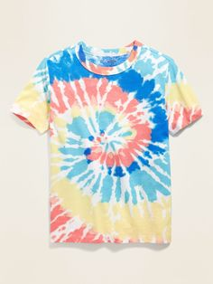 Shop Old Navy's Short-Sleeve Crew-Neck Tee for Boys: Rib-knit crew neck. , Print or graphic varies by color. Bleach Tie Dye, Tye Dye, Dye Shirt, Tie Dye T Shirts, Buddha Wallpaper Iphone, Diy Tie Dye Designs, Tie Dye Techniques, Knitted Hats, Old Navy