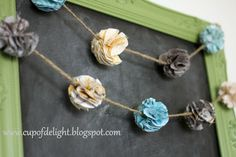 Cup of Delight: How To Make Fabric Pom Pom Flowers {Delightfully Creative}